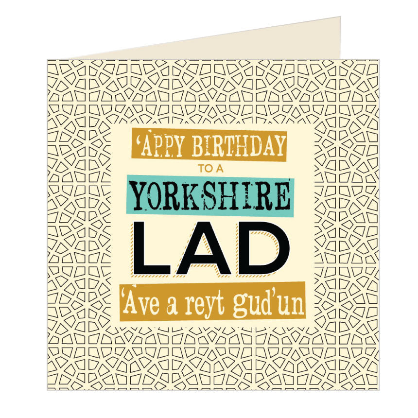'Appy Birthday to a Yorkshire Lad - Yorkshire Card by wotmalike
