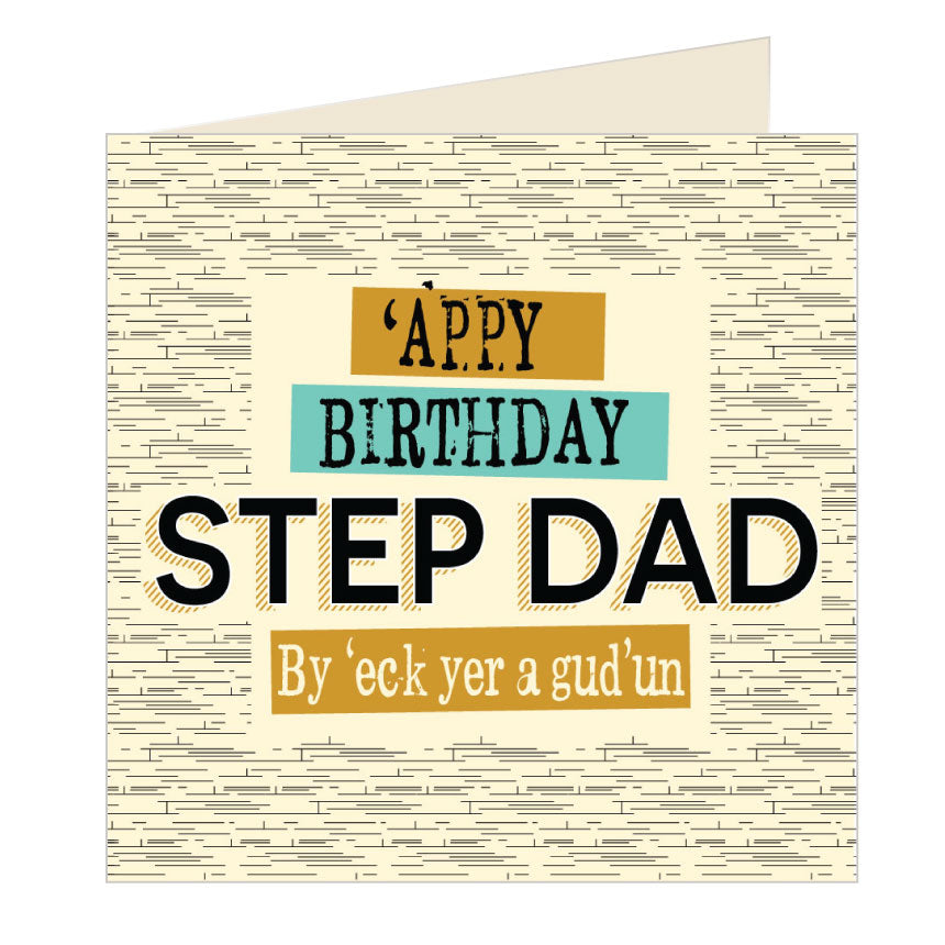 'Appy Birthday Step Dad - Yorkshire Card by Wotmalike