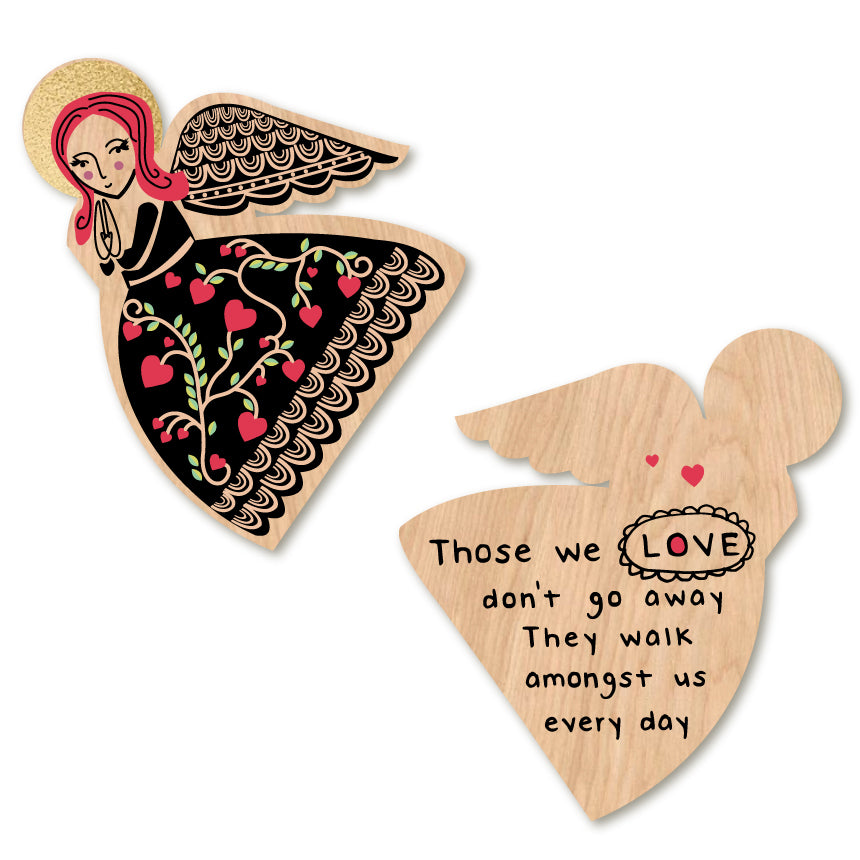Those We Love Don't Go Away - Angel Ornament by Wotmalike