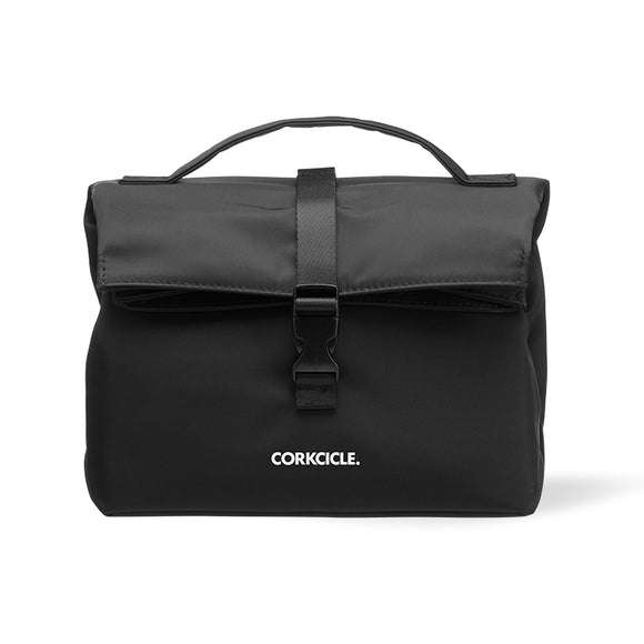 Corkcicle Black Nona Roll-Top Lunchbox