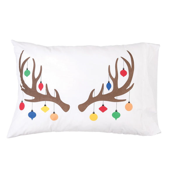 Reindeer Ornament Pillowcase