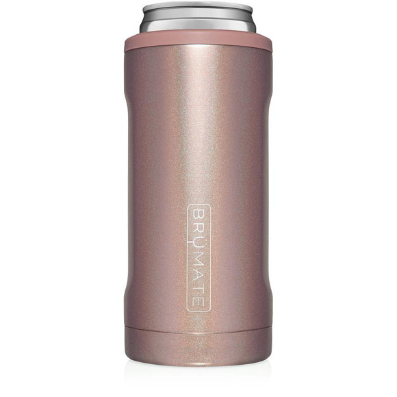 BrüMate Glitter Rose Gold Hopsulator Slim (12oz slim cans)