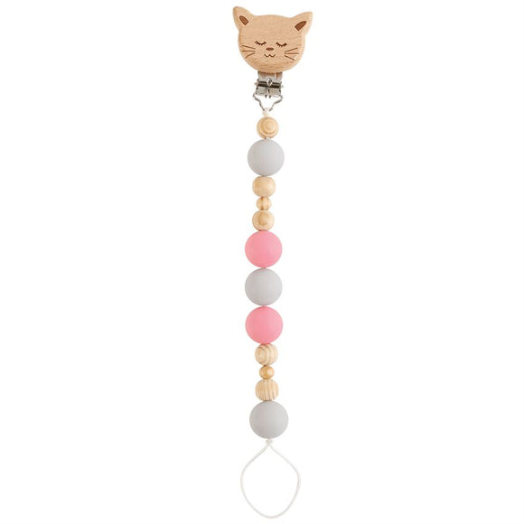 Mud Pie Cat Wooden Pacy Clip