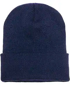Navy Yupoong Adult Cuffed Knit Beanie
