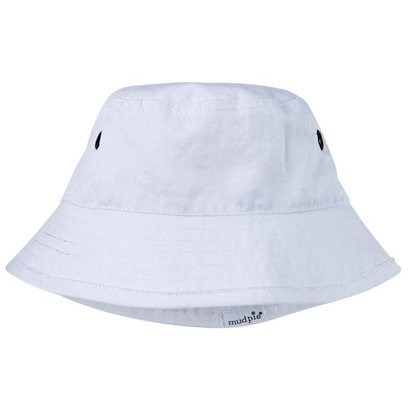 Mud Pie Twill Sun Hat - White
