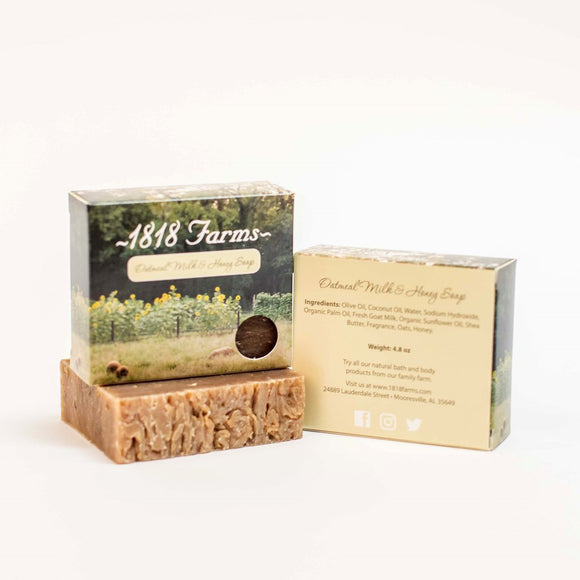 1818 Farms Oatmeal Milk & Honey Handcrafted Soap