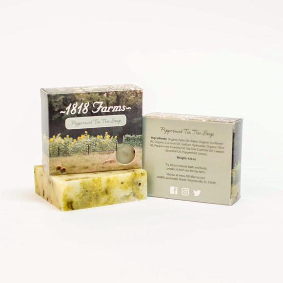 1818 Farms Peppermint Tea Tree Handcrafted Soap