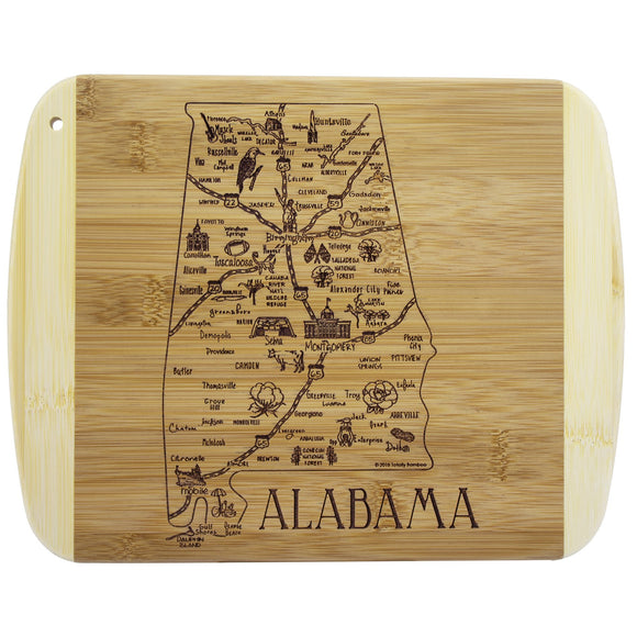 A Slice of Life Alabama Serving and Cutting Board