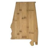 Totally Bamboo Alabama State Shaped Bamboo Serving and Cutting Board