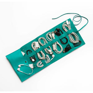 Travel Cord Roll Turquoise