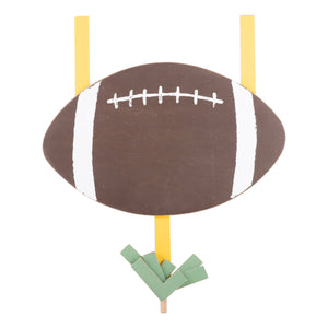 Glory Haus Football Welcome Wood Board Topper