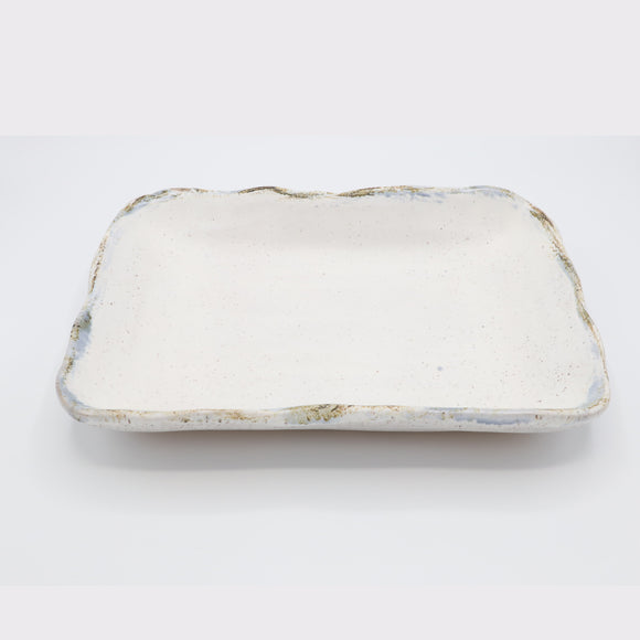 Etta B Rectangle Baker - White