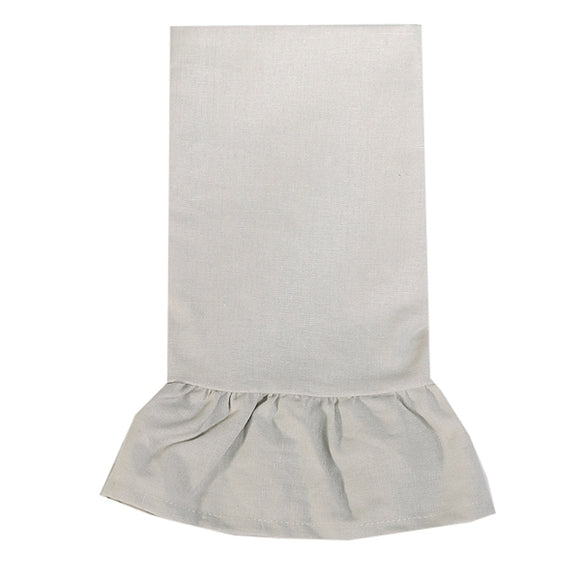 Gray Ruffle Hand Towel