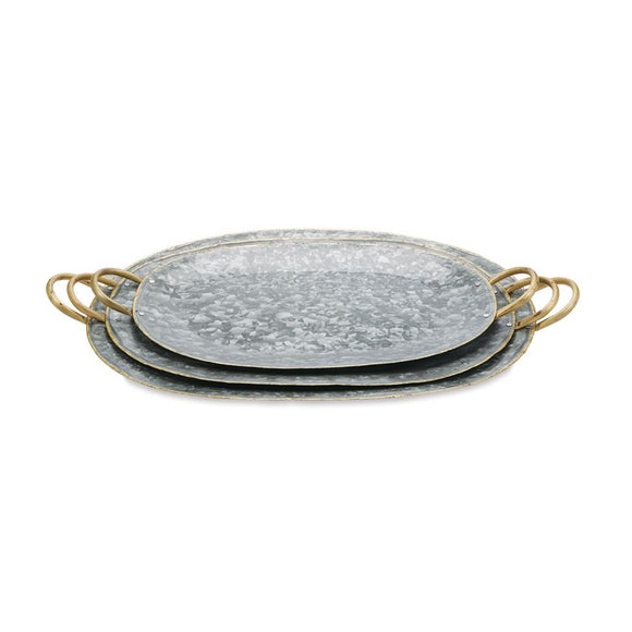 Mud Pie Large Oval Tray w/Handles