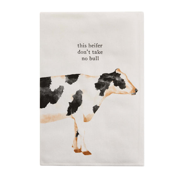 Mud Pie Farm Icon Towel - Cow