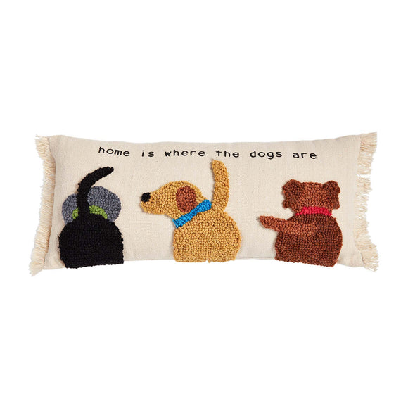 Mud Canvas Hook Dog Pillow - Home Dog