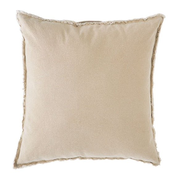 Mud Pie Natural Washed Canvas Pillow