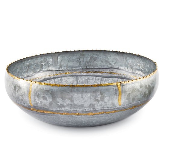 Mud Pie Galvanized Tin Bowl - Large