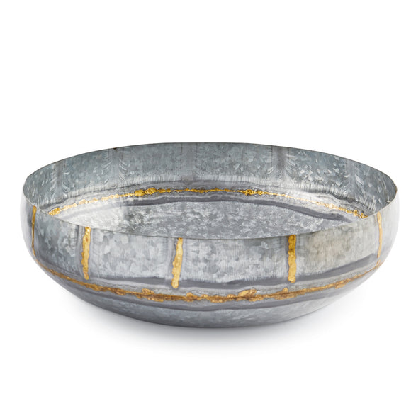 Mud Pie Galvanized Tin Bowl - Small