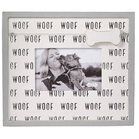 Mud Pie Woff Dog Bone Charm Frame