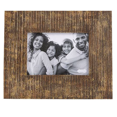 Mud Pie Large Wood & Gold Foil Frame