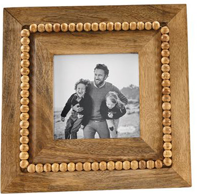 Mud Pie Square Beaded Wood Frame