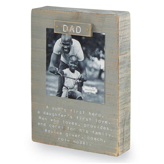 Mud Pie Dad Magnet Block Frame