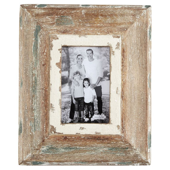 Mud Pie Small Wood Weathered Frame
