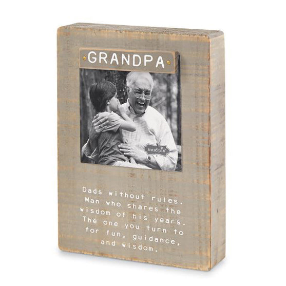 Mud Pie Grandpa Magnet Block Frame