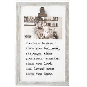 Mud Pie Braver Clip Binder Frame