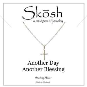 "Skosh 16"" Silver Cross Necklace"