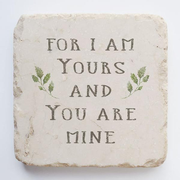 Twelve Stone Art I am Yours and You are Mine Scripture Stone (2 x 2 x 1