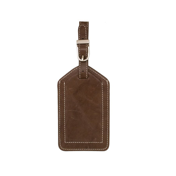Leather Luggage Tag - Toffee