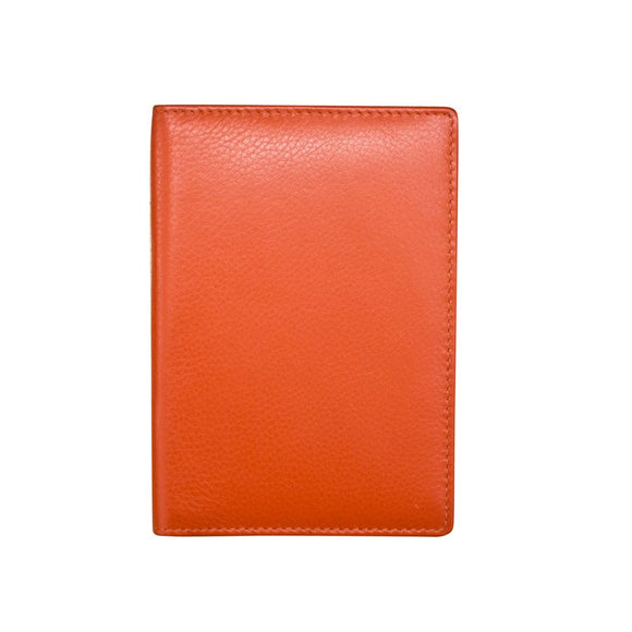 Leather Passport Cover Orange