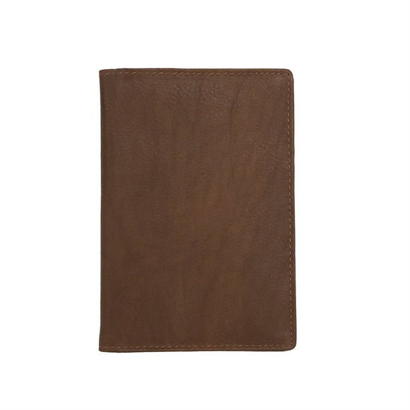 Leather Passport Cover Toffee