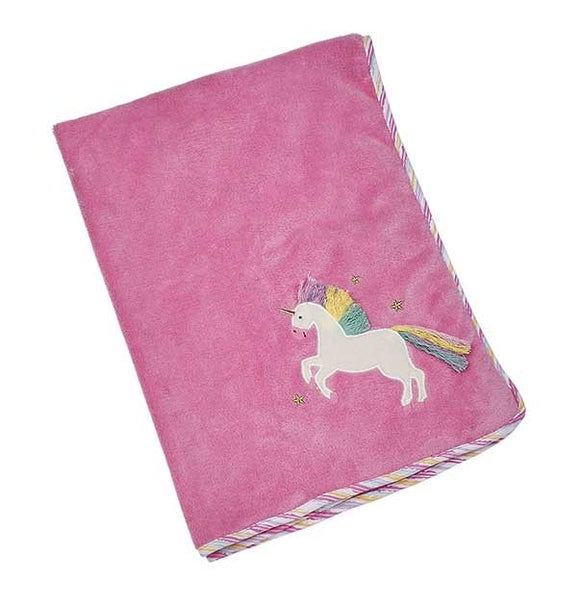 Maison Chic Trixie the Unicorn Plush Blanket