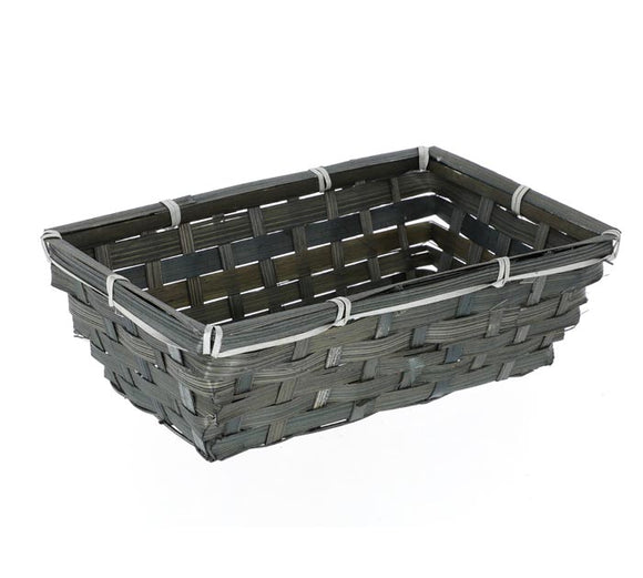 Burton & Burton Basket - Large Rectangle Dark Stain Bamboo