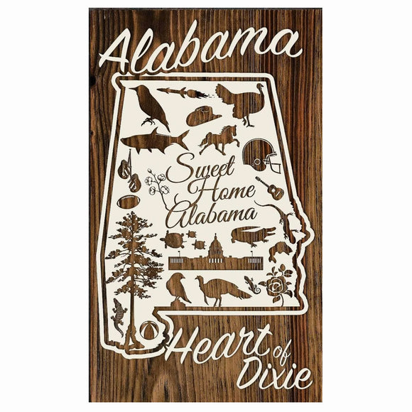 Alabama Abstract Paper Blanc Mini Wood Wall Hanging