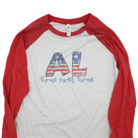 AL Home Sweet Home Raglan Shirt