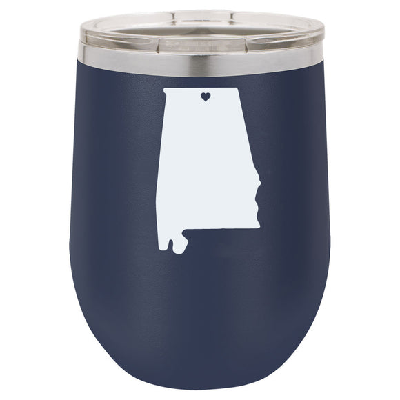 AL 12oz Navy Blue Stemless Tumbler