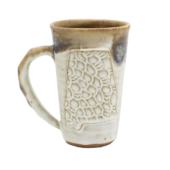 Fingerprint Alabama Mug - Ivory Linen