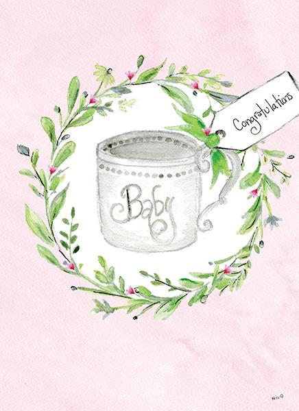 Kris-10's Creations Pink Baby Teacup Card