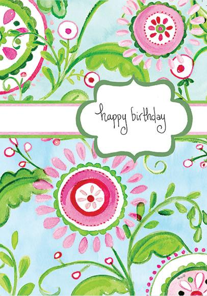 Kris-10's Creations Precious Floral Birthday Card