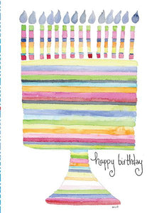 Kris-10's Creations Rainbow Birthday Cake Card