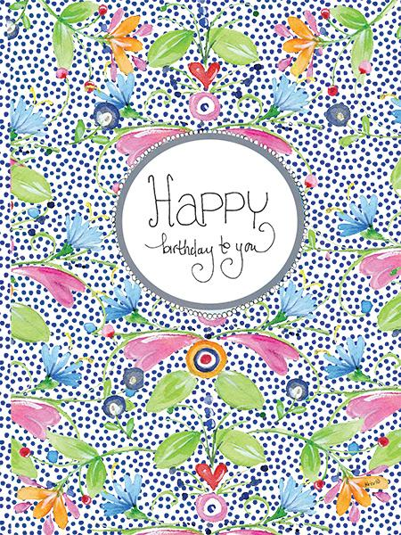 Happy Dot Floral Card