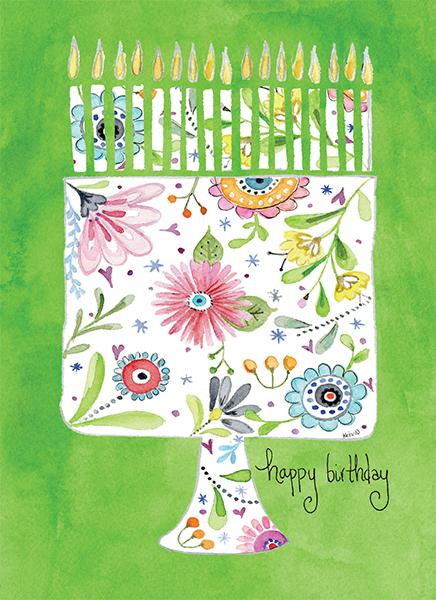 Whimsical Birthday Cake Card