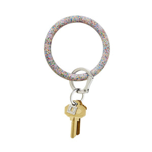 O-Venture Big O® Rainbow Confetti Silicone Key Ring