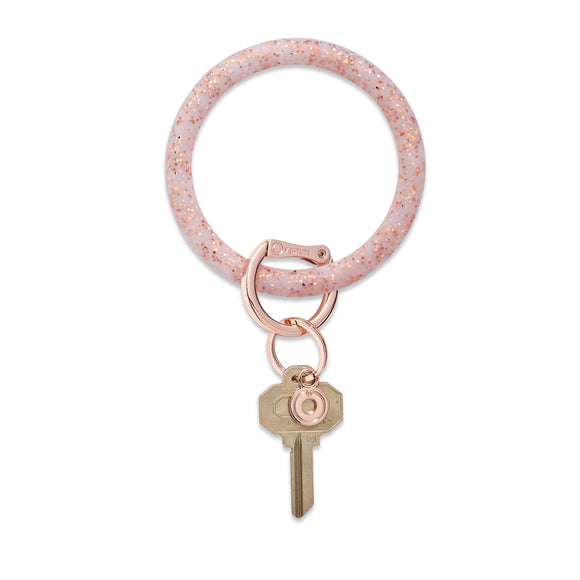 O-Venture Big O® Rose Gold Confetti Silicone Key Ring