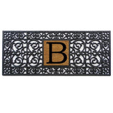 "17"" x 41"" Rubber Monogram Doormat"