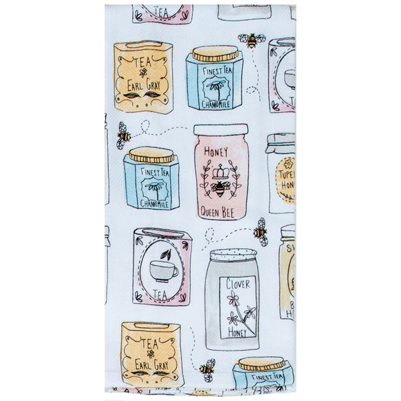 Bee Inspired Jars Dish Towel